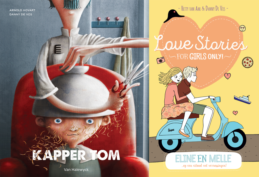 Kapper Tom en Love Stories Eline en Melle